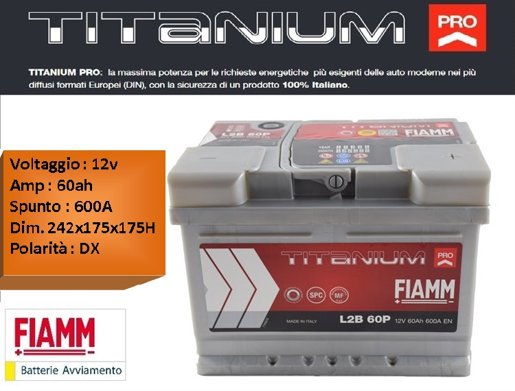 Batteria Auto Fiamm Titanium 60Ah